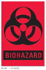 PDC Biohazard labels BH-405